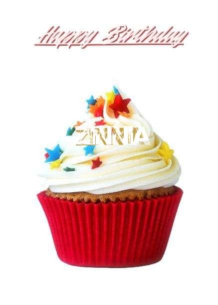 Happy Birthday Zinnia Cake Image