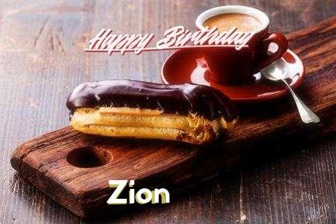 Happy Birthday Zion Cake Image