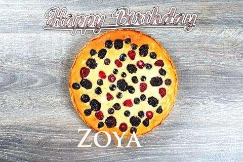 Happy Birthday Cake for Zoya
