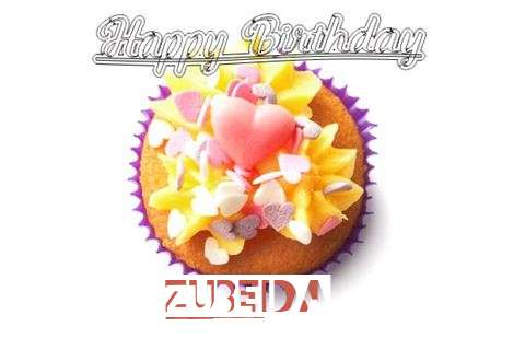 Happy Birthday Zubeida Cake Image
