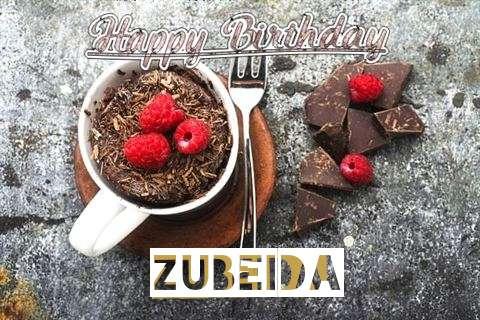 Happy Birthday Wishes for Zubeida